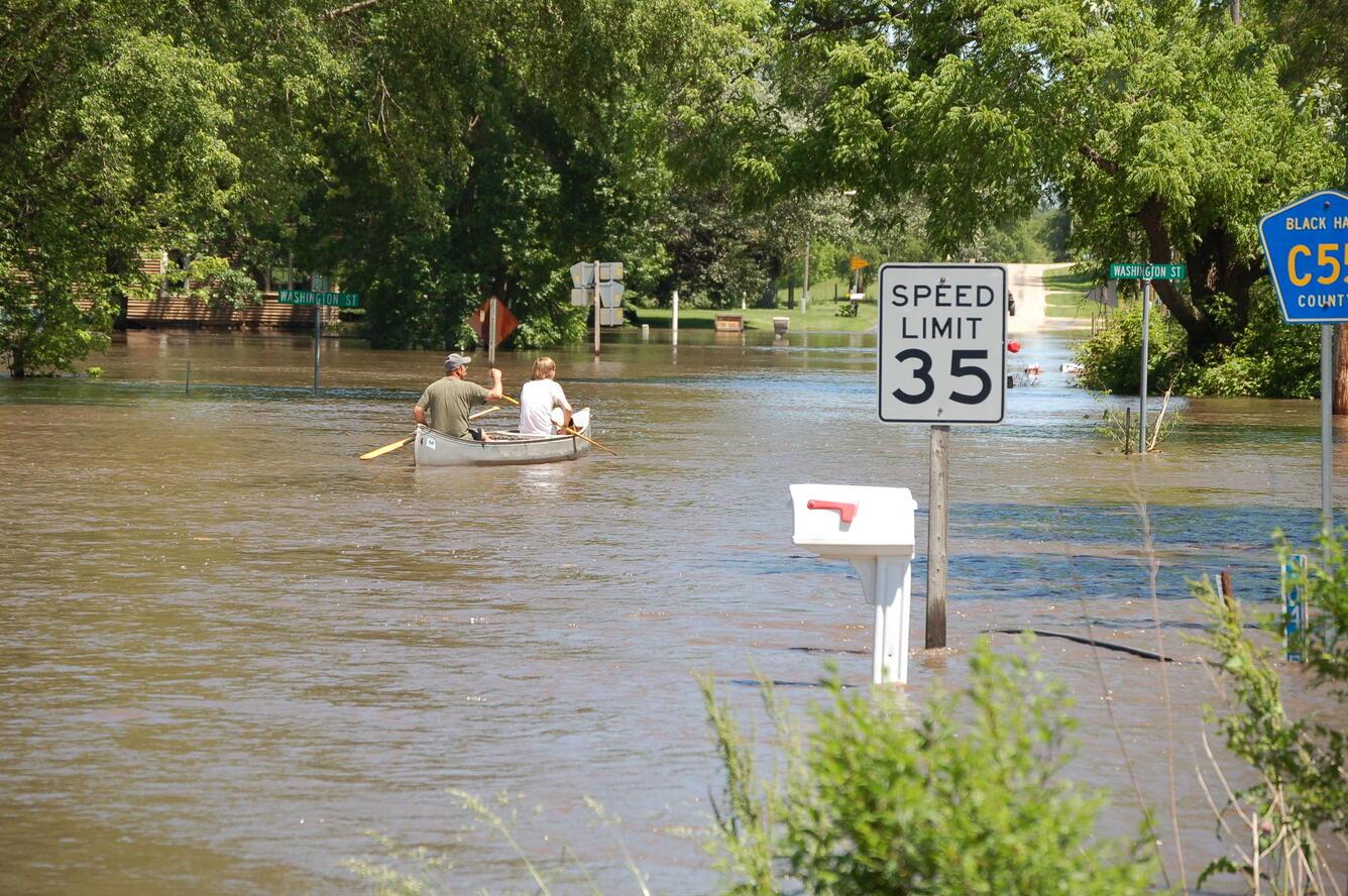 Image: Flooding in Finchfield, IA