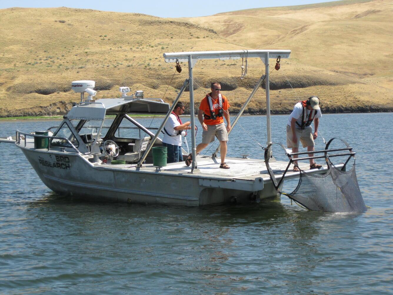 Beam trawling on Lower Granite Reservoir